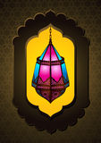 Beautiful Islamic Lamp in arch - Vector Royalty Free Stock Images