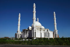Beautiful Islamic Mosque in Astana, Kazakhstan.  Royalty Free Stock Photo