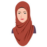 Beautiful Islamic Woman In Hijab. Sharia Vector Illustration Royalty Free Stock Images