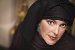Beautiful Islamic Woman Wearing Traditional Burqa or Niqab Stock Images