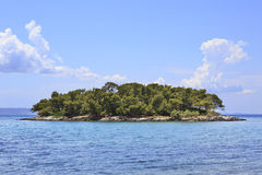 Beautiful island in the Aegean Sea. Royalty Free Stock Images
