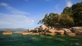 Beautiful island against blue sky near Ko Lipe Royalty Free Stock Images