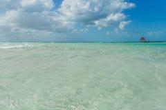 Beautiful island, beach of Isla Mujeres, Mexico Royalty Free Stock Photo