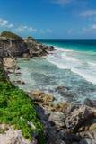 Beautiful island, beach of Isla Mujeres, Mexico Stock Images