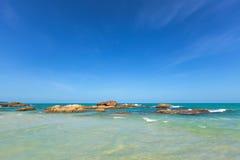 Beautiful island beach. Beautiful beach in Samui island, Thailand Royalty Free Stock Photography