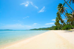 Beautiful island beach seaside view in sunny day Royalty Free Stock Images