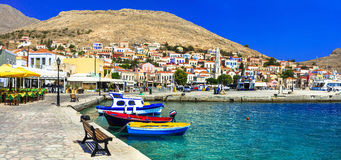 Beautiful island Chalki (Dodecanese). Colors of Greece series - beautiful island Chalki (Dodecanese royalty free stock photos