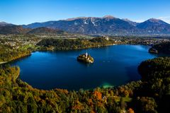 Beautiful island on lake Bled Royalty Free Stock Photography