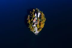 Beautiful island on lake Bled Royalty Free Stock Images
