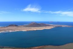 Lanzarote on the Canaries. Beautiful Island Lanzarote on the Canaries royalty free stock photo