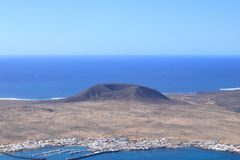 Lanzarote on the Canaries. Beautiful Island Lanzarote on the Canaries stock photos
