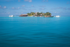 Beautiful island in maldives Royalty Free Stock Images