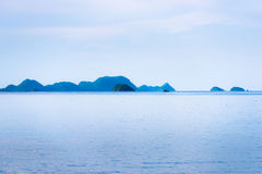 Beautiful island and morning sea Royalty Free Stock Images