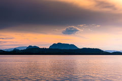 Beautiful island and morning sea Stock Photo