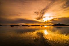 Beautiful island and morning sea Royalty Free Stock Photos