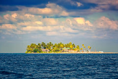Beautiful island in the ocean Stock Photography