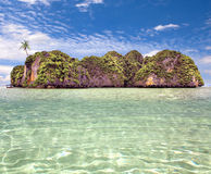 Beautiful island with a palm tree at ocean. Thailand Royalty Free Stock Images