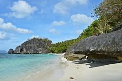 Beautiful island and palm trees in El Nido, Palawan, Philippines stock photography