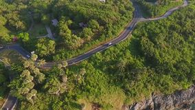 Beautiful Island Road to Popular Touristic Viewpoint. HD Birds Eye View of Paradise Tropical Landscape. Phuket, Thailand stock video