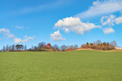 Beautiful island Rugen in Northern Germany, countryside in Sprin Royalty Free Stock Images