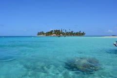 Beautiful island in San Blas archipelago, Panamá. Island in San Blas archipelago, Panam Royalty Free Stock Images