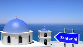 Beautiful island of Santorini Stock Image