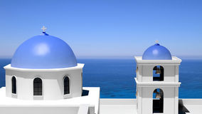 Beautiful island of Santorini Stock Images