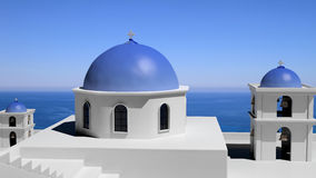 Beautiful island of Santorini i Stock Photo