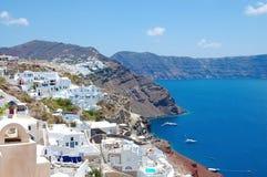Beautiful island Santorini. Santorini - islands in Greece, beautiful seaside resort Stock Image