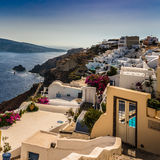 Beautiful island Santorini Stock Images