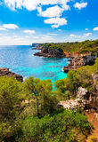 Beautiful island scenery on Majorca Spain Mediterranean Sea Royalty Free Stock Images