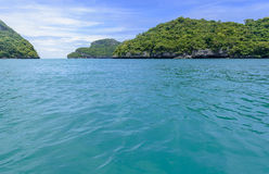 Beautiful island. Seascape view when travel by the boat Stock Photo