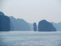 Beautiful island siluet in the sea Stock Photography