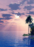 Beautiful island in the sunset Stock Photos