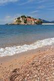 The beautiful island of Sveti Stefan in Budva Riviera Royalty Free Stock Photos