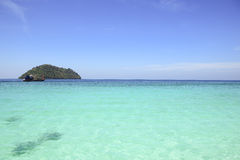 Beautiful island with white beach Stock Images