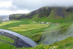 Beautiful islandic landscape. Skoga River.  royalty free stock photos