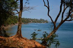 Guinea Bissau, Bubaque Island. Beautiful islands in the Bijagos Archipelago, warm sandy sunny beaches, warm water, wonderful nature, a perfect place to rest on royalty free stock photo