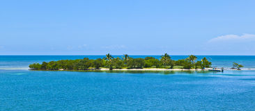 Beautiful islands in the keys. With blue sky Stock Images