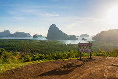Beautiful Islands from View Point. View point to see small beautiful islands and bay from big mountain stock images