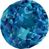 Beautiful isolated blue topaz stock illustration