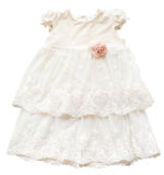 Beautiful isolated dress for little princess baby-girl. Royalty Free Stock Photo