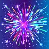 Beautiful isolated  firework. Royalty Free Stock Photos