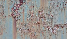 Beautiful isolated isolated photo of the peeled old metal wall royalty free stock images