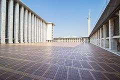 Beautiful Istiqlal mosque exterior Royalty Free Stock Images