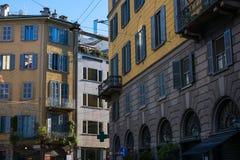 Beautiful Italian Apartment Exteriors Old Building Living Lifest Stock Image