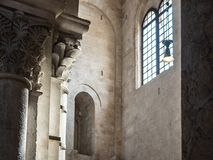 Beautiful Italian church of the Middle Ages. Indoor view royalty free stock photography