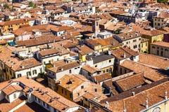 Beautiful Italian city Verona from Torre dei Lamberti Royalty Free Stock Photos