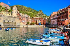 Beautiful Italian coastal village Royalty Free Stock Images