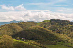 Beautiful Italian Countryside Landscape over Rolling Hills and B Stock Photos